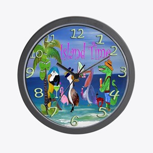 Island Time Beach Wall Clock