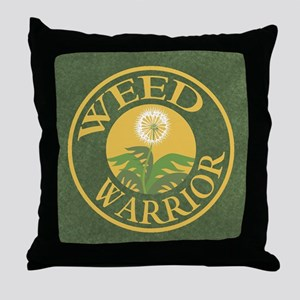 Weed Warrior Throw Pillow