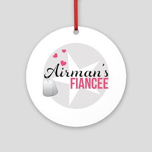 Airmans Fiancee Round Ornament