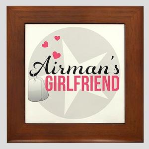 Airmans Girlfriend Framed Tile