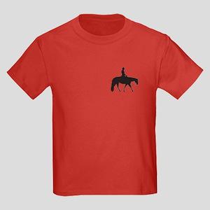 Pocket Pixels male rider Kids Dark T-Shirt