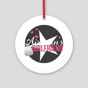 Airmans Girlfriend Round Ornament