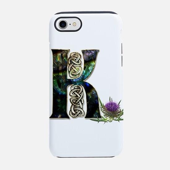 K Initial Celtic Thistle iPhone 7 Tough Case