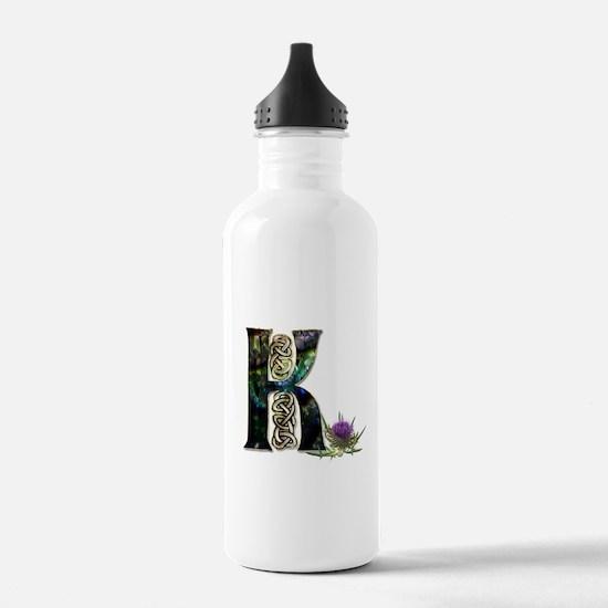 K Initial Celtic Thist Water Bottle