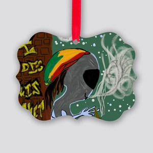 Rasta Alien - I Dig This Planet  Picture Ornament