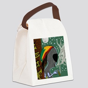 Rasta Alien - I Dig This Planet  Canvas Lunch Bag