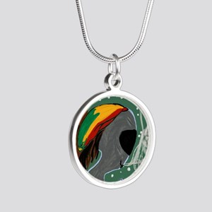 Rasta Alien - I Dig This Pla Silver Round Necklace