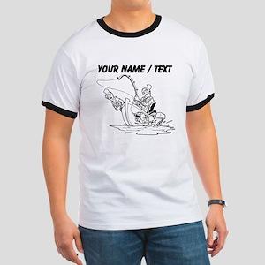 Custom Fishing Cartoon T-Shirt