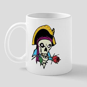 Pirate With Rose Mug