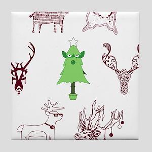 Merry X-mas Tile Coaster