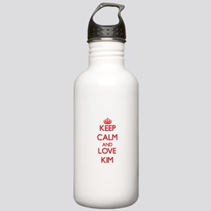 Keep calm and love Kim Water Bottle