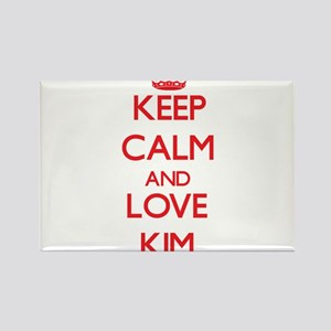 Keep calm and love Kim Magnets