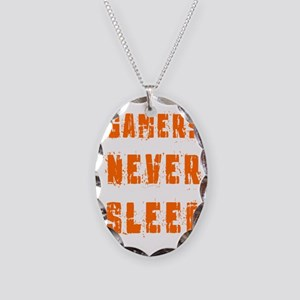 gamers never sleep Necklace Oval Charm
