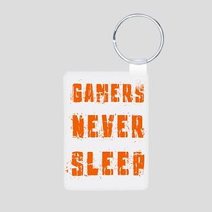 gamers never sleep Aluminum Photo Keychain