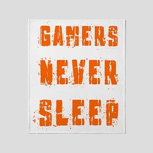 gamers never sleep Throw Blanket