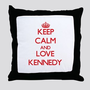 Keep calm and love Kennedy Throw Pillow