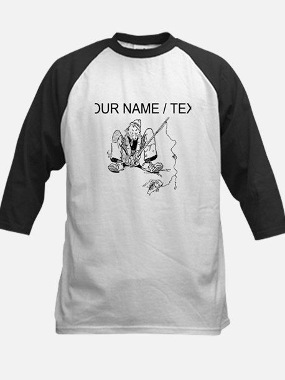 Custom Funny Fishing Sketch Baseball Jersey