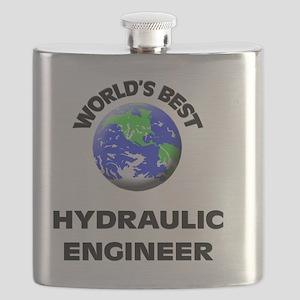 World's Best Hydraulic Engineer Flask