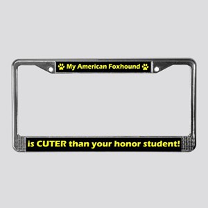 Honor Student Am Foxhound License Plate Frame