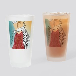 Embracing Tiger Drinking Glass