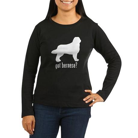 Bernese Women's Long Sleeve Dark T-Shirt