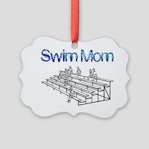 Swim Mom Picture Ornament