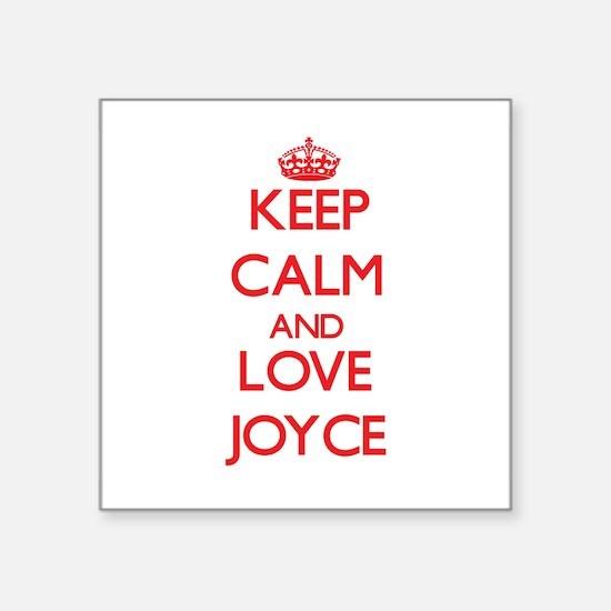 Keep calm and love Joyce Sticker