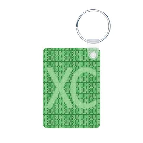 XC Run Run Green Aluminum Photo Keychain