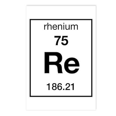 Rhenium Postcards (Package of 8)