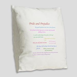 Pride and Prejudice Quotes Burlap Throw Pillow