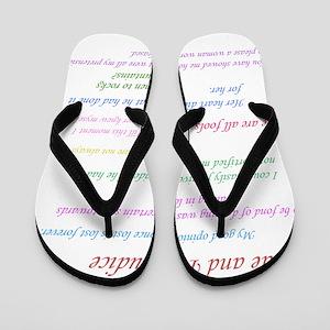 Pride and Prejudice Quotes Flip Flops