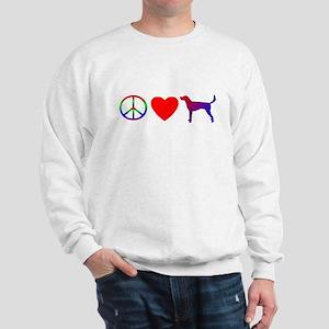 Peace, Love, American Foxhound Sweatshirt