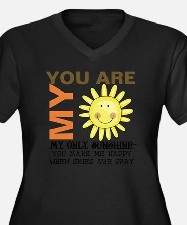 You Are My S Women's Plus Size Dark V-Neck T-Shirt