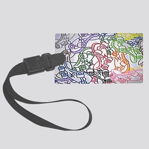 skateboards clutch side A Large Luggage Tag
