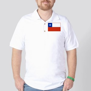 Chile Flag Golf Shirt