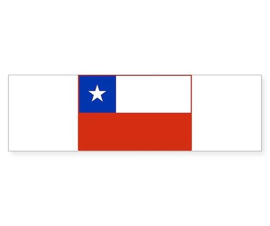 Chile flag bumper bumper bumper sticker