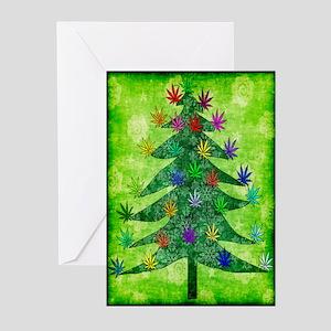 Holiday Marijuana Tree Greeting Cards