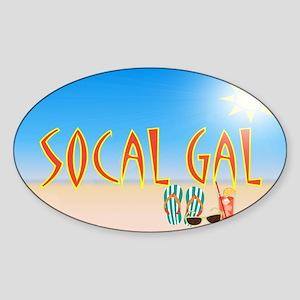 SoCal Gal shoulder bag Side A Sticker (Oval)