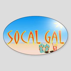socal gal clutch side A Sticker (Oval)