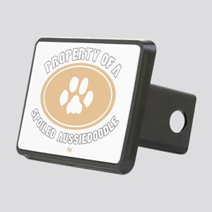 3-Dog Walker Aussiedoodle- Rectangular Hitch Cover
