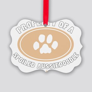 3-Dog Walker Aussiedoodle-B Picture Ornament