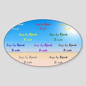 socal gal clutch B side Sticker (Oval)