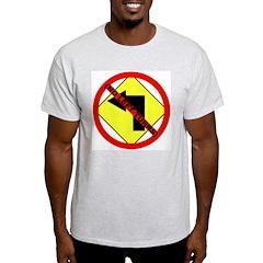 No Left Turns Ash Grey T-Shirt