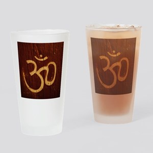 OM Carving Drinking Glass