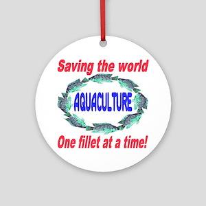 Aquaculture Round Ornament