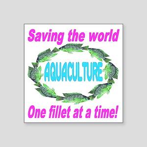 "Aquaculture Square Sticker 3"" x 3"""