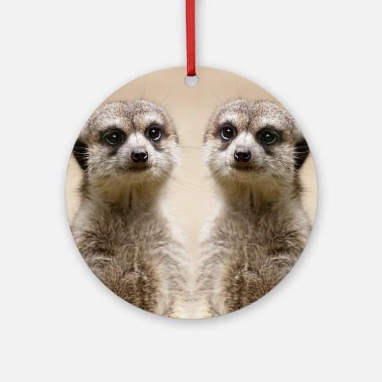 Meerkat Round Ornament