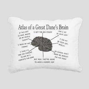 Atlas of a great danes b Rectangular Canvas Pillow
