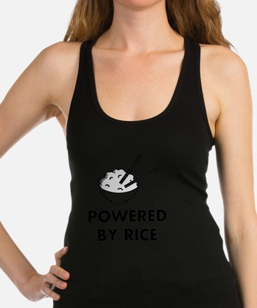 Powered By Rice Racerback Tank Top