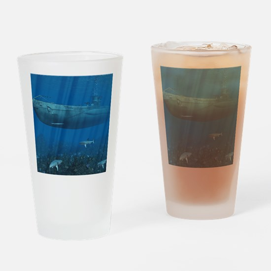 stadium_hell_h_front Drinking Glass